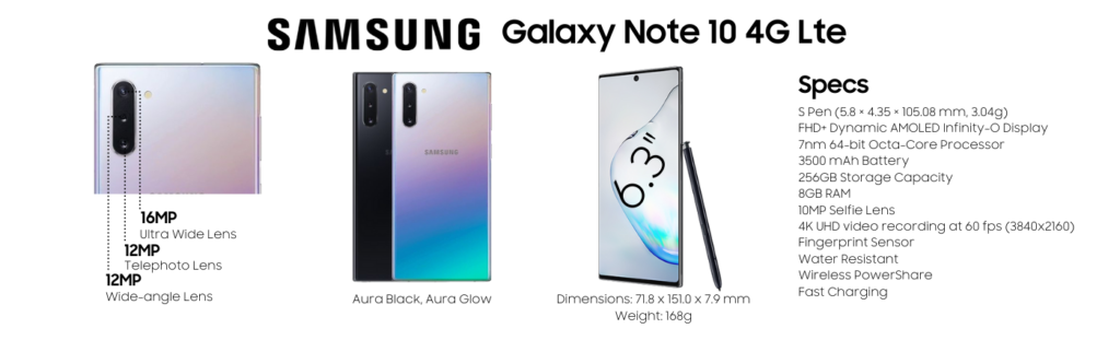 Samsung Galaxy Note 10 4G LTE Repairs