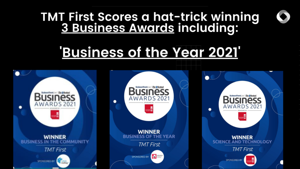 Showing Business Awards won by TMT First